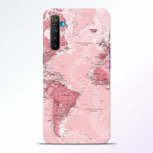 World Map Realme XT Back Cover