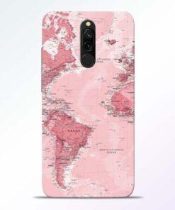World Map Redmi 8 Back Cover