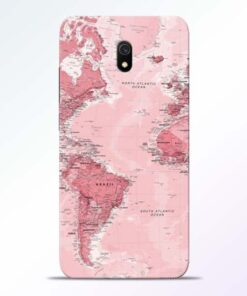 World Map Redmi 8A Back Cover