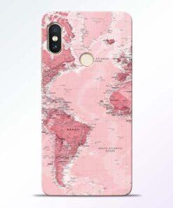 World Map Redmi Note 5 Pro Back Cover