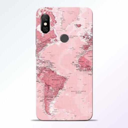 World Map Redmi Note 6 Pro Back Cover
