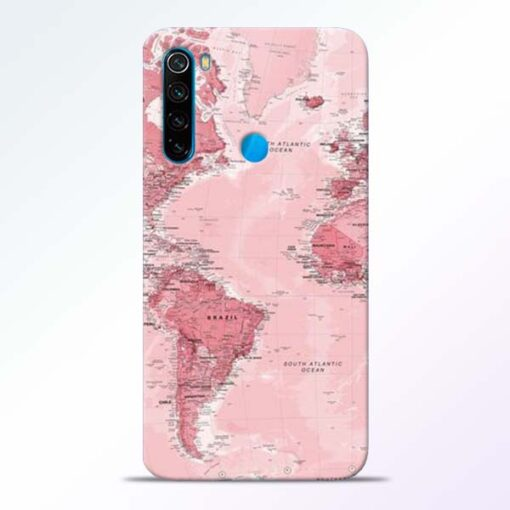 World Map Redmi Note 8 Back Cover