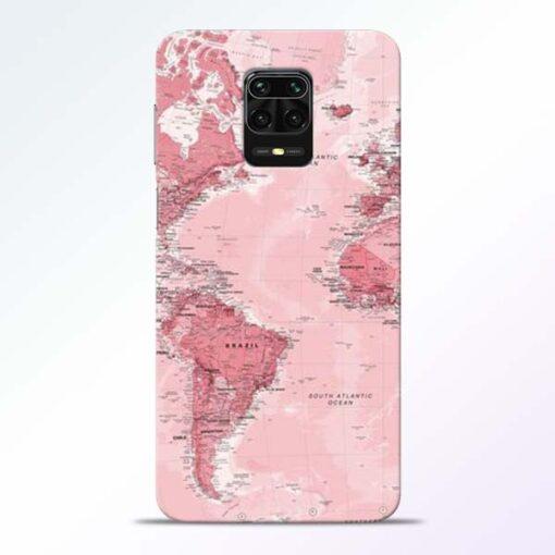 World Map Redmi Note 9 Pro Back Cover