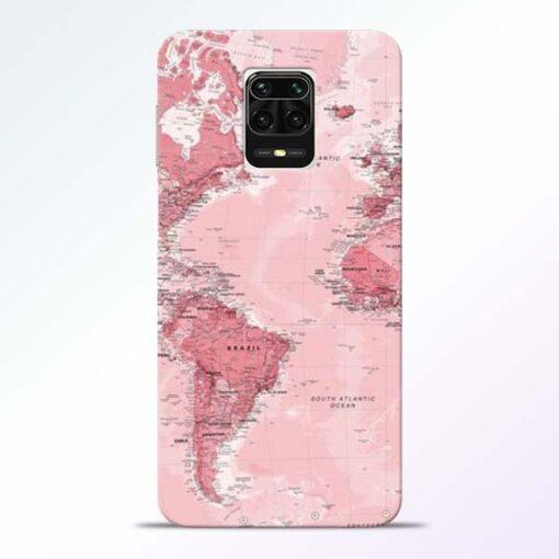 World Map Redmi Note 9 Pro Max Back Cover