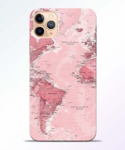 World Map iPhone 11 Pro Back Cover