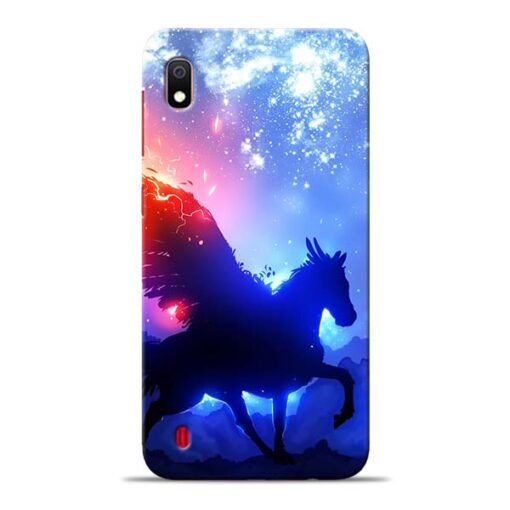 Black Horse Samsung Galaxy A10 Back Cover