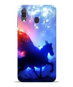Black Horse Samsung Galaxy A30 Back Cover