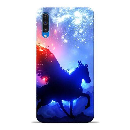 Black Horse Samsung Galaxy A50 Back Cover