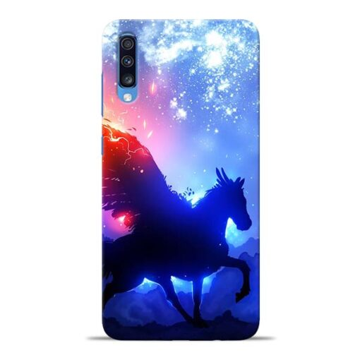 Black Horse Samsung Galaxy A70 Back Cover