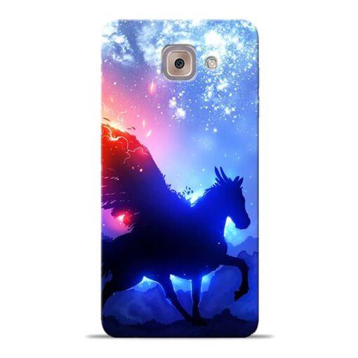 Black Horse Samsung Galaxy J7 Max Back Cover