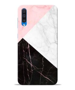 Black Marble Samsung Galaxy A50 Back Cover