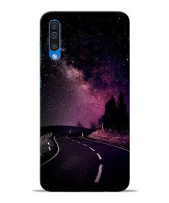 Black Road Samsung Galaxy A50 Back Cover
