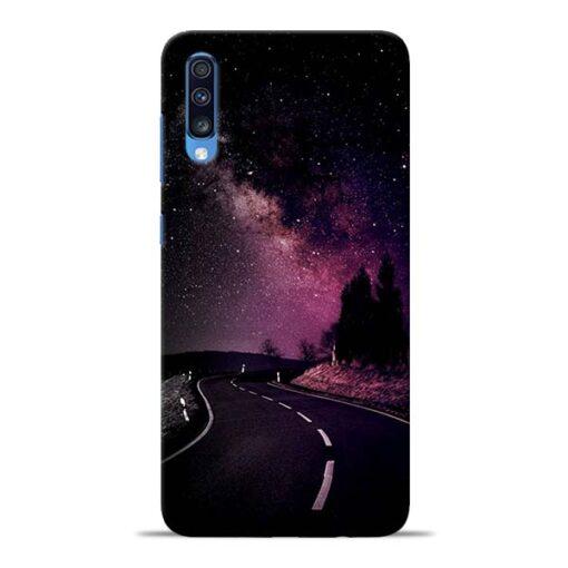 Black Road Samsung Galaxy A70 Back Cover