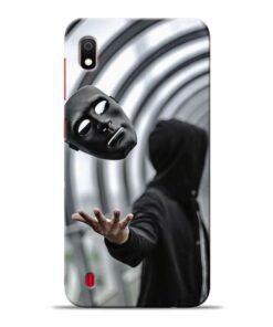 Neon Face Samsung Galaxy A10 Back Cover