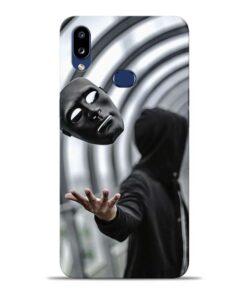 Neon Face Samsung Galaxy A10s Back Cover