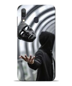 Neon Face Samsung Galaxy A30 Back Cover