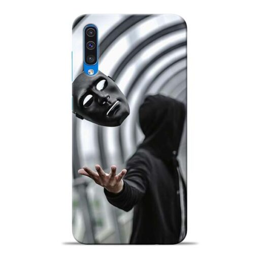 Neon Face Samsung Galaxy A50 Back Cover