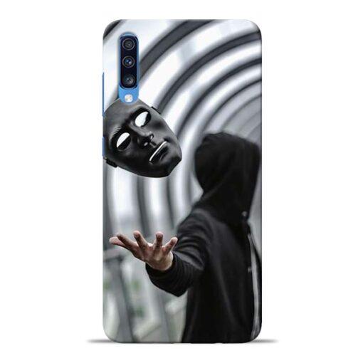 Neon Face Samsung Galaxy A70 Back Cover