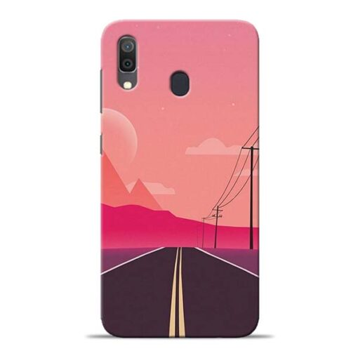 Pink Road Samsung Galaxy A30 Back Cover
