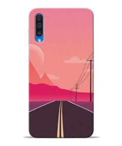 Pink Road Samsung Galaxy A50 Back Cover