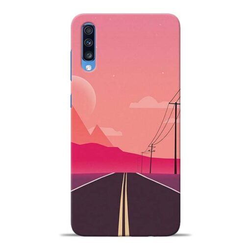 Pink Road Samsung Galaxy A70 Back Cover