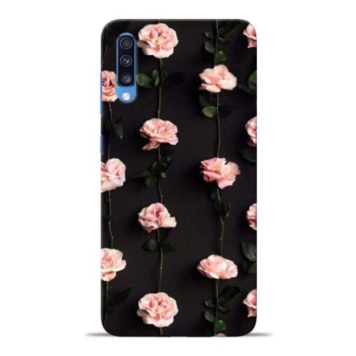 Pink Rose Samsung Galaxy A70 Back Cover