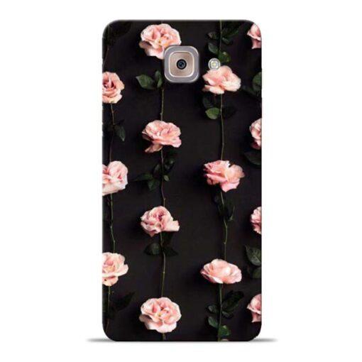 Pink Rose Samsung Galaxy J7 Max Back Cover