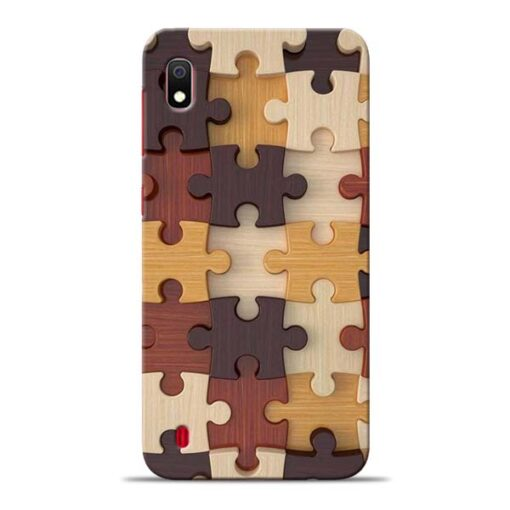 Puzzle Pattern Samsung Galaxy A10 Back Cover