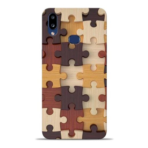 Puzzle Pattern Samsung Galaxy A10s Back Cover