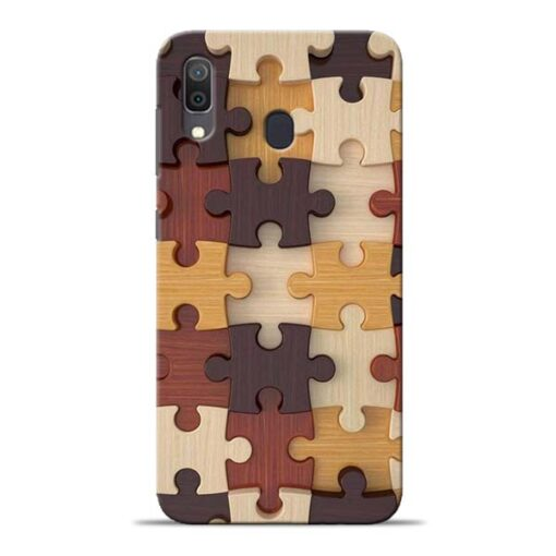 Puzzle Pattern Samsung Galaxy A30 Back Cover