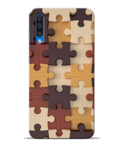 Puzzle Pattern Samsung Galaxy A50 Back Cover
