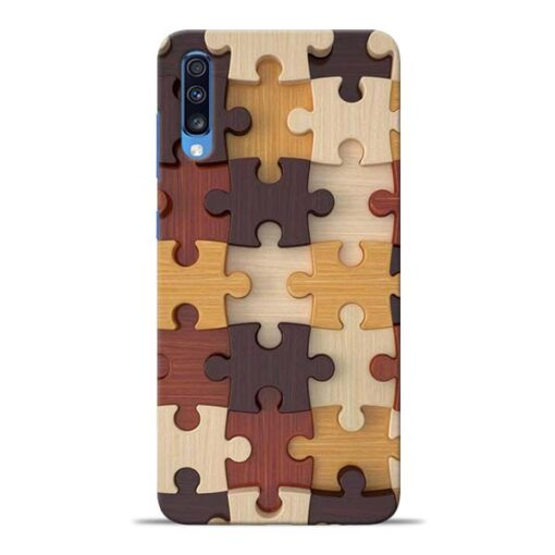 Puzzle Pattern Samsung Galaxy A70 Back Cover