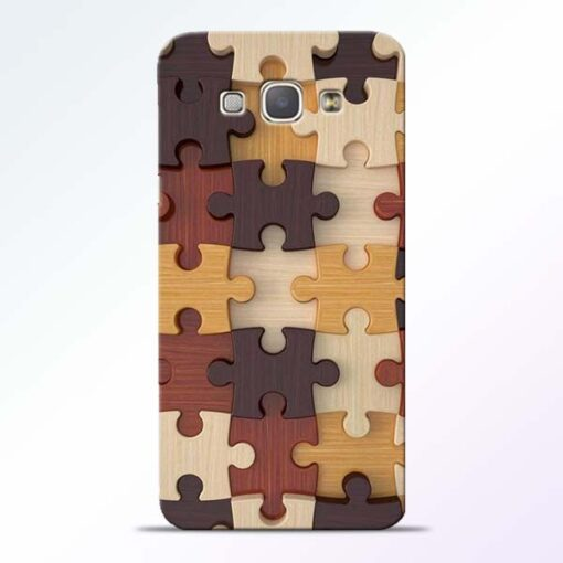 Puzzle Pattern Samsung Galaxy A8 2015 Back Cover