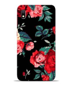 Red Floral Samsung Galaxy A10 Back Cover