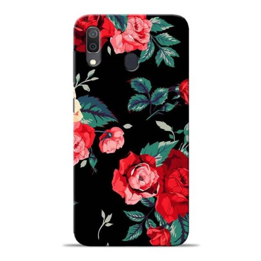 Red Floral Samsung Galaxy A30 Back Cover