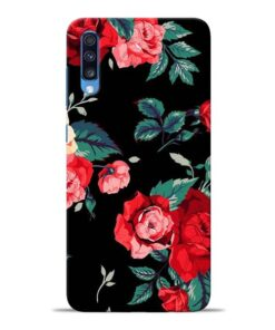Red Floral Samsung Galaxy A70 Back Cover
