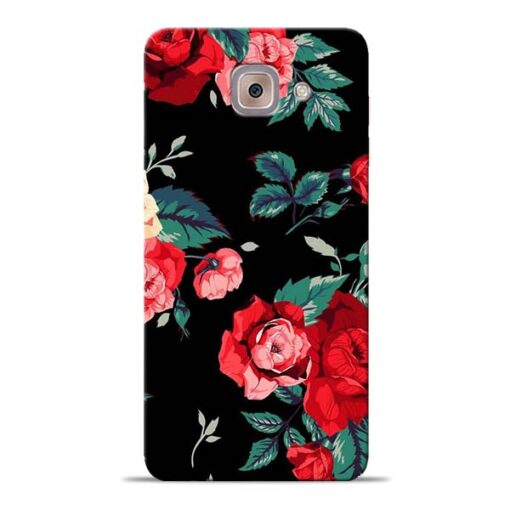 Red Floral Samsung Galaxy J7 Max Back Cover