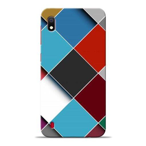 Square Check Samsung Galaxy A10 Back Cover