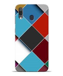 Square Check Samsung Galaxy A30 Back Cover
