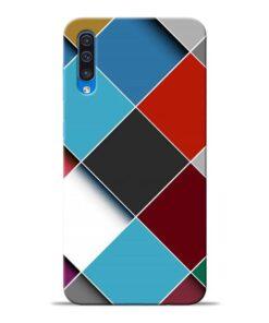 Square Check Samsung Galaxy A50 Back Cover