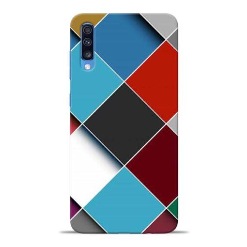 Square Check Samsung Galaxy A70 Back Cover