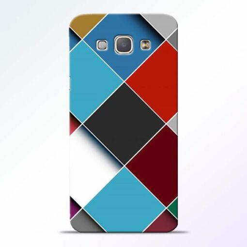 Square Check Samsung Galaxy A8 2015 Back Cover