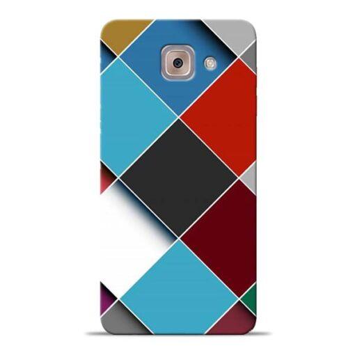 Square Check Samsung Galaxy J7 Max Back Cover
