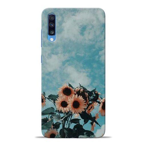 Sun Floral Samsung Galaxy A70 Back Cover