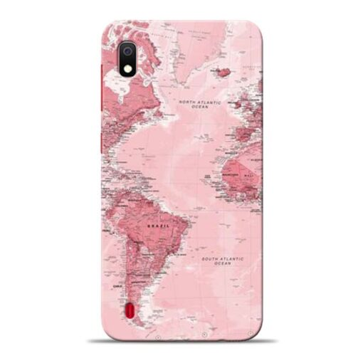 World Map Samsung Galaxy A10 Back Cover