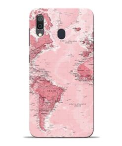 World Map Samsung Galaxy A30 Back Cover