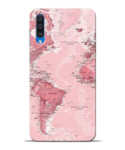 World Map Samsung Galaxy A50 Back Cover